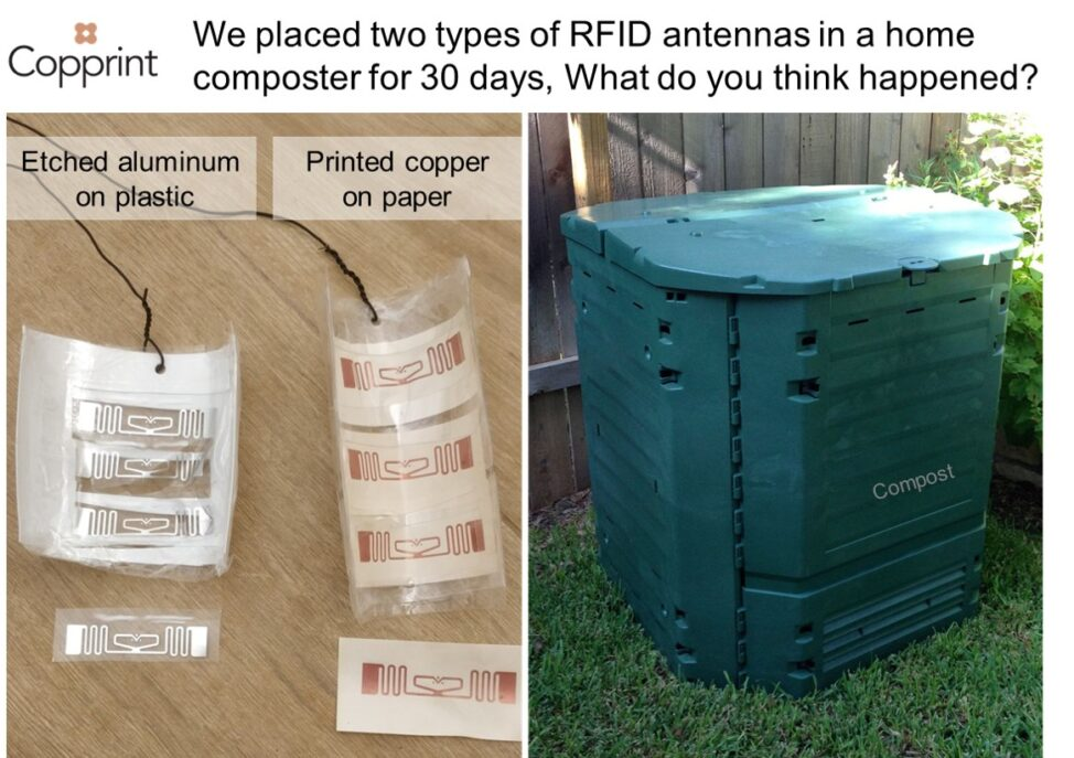 Are Copprint copper-on-paper RFID antennas really compostable?