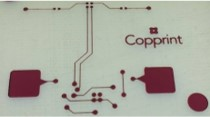 Printed circuit board using Copprint's copper ink in a few minutes